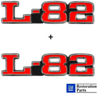 C3 Corvette 75-79 L-82 Hood Emblems Official GM Restoration Emblem Both Sides FITS: 75-79 Corvettes