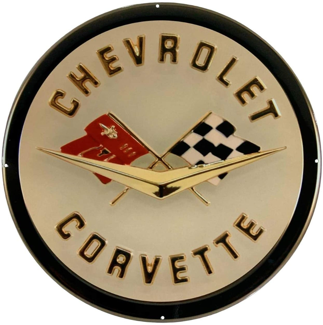 C1 Corvette Wall Emblem Large Metal Art 58 thru 62 Full 19