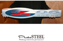 "Load image into Gallery viewer, C5 Corvette ZO6 405HP Wall Emblem Large Metal Art 02-04 Full 36"" by 6.5"" in size Z06"