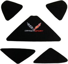 Load image into Gallery viewer, C7 Corvette Trunk Lid Liner with Cross Flag Grand Sport Embroidered Emblem 5 Piece Kit Fits: 17 Through 19 Convertible Corvettes