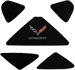 C7 Corvette Trunk Lid Liner w/ Cross Flag Emblem and Stingray Script 14 thru 19
