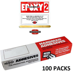 Red 2 Non Sag 3.5g Double Bubble Epoxy Packet Includes 100 Packs Super Fast Set Hardman 04008