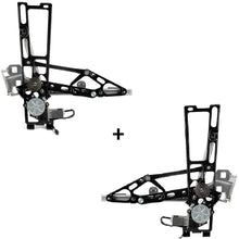 Load image into Gallery viewer, C4 84-96 Corvette Left + Right Power Window Regulator with New Motors 84 thru 96