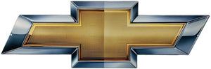 "Chevy Bow Tie Full Size Wall Emblem Art 34"" by 11"" GM Gold Bowtie"