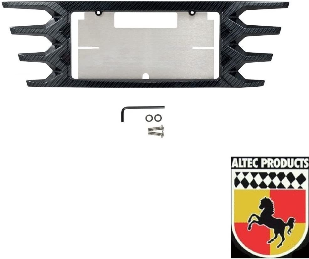 C7 Corvette Stingray Rear License Plate Frame Carbon Fiber Look Made by Altec