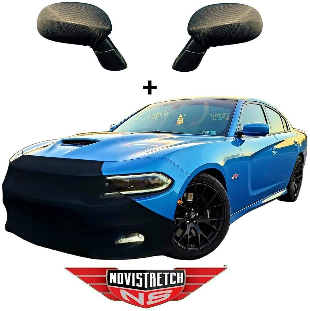 Charger NoviStretch Front + Mirror Bra High Tech Stretch Mask Combo Fits: All 2006 and Later Dodge Chargers