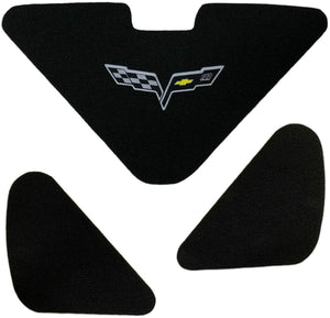 C6 Corvette Trunk Lid Liner 100th Anniversary Cross Flag Emblem 3Pc Kit 05-13