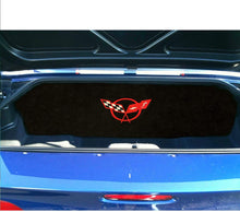 Load image into Gallery viewer, C5 Corvette Trunk Compartment Divider Partition w/ Red Cross Flag Emblem
