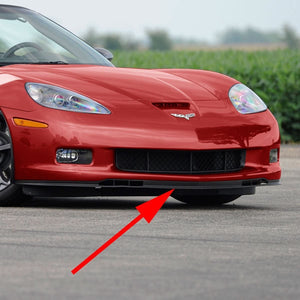 C6 Corvette GS ZO6 Front Chin Spoiler 2 Piece Fits: 06 thru 13 Grand Sport + Z06