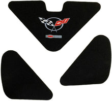 Load image into Gallery viewer, C5 Corvette Trunk Lid Liner Cross Flag + ZO6 Embroidered Emblem 3Pc Kit 98-04