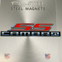 "Load image into Gallery viewer, Camaro Super Sport SS Metal Magnet Emblem Art Size: 6"" x 1.5"" Tool Box Great Gift Item"
