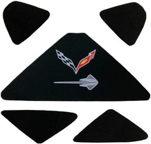 Load image into Gallery viewer, C7 Corvette Trunk Lid Liner w/ Crossed Flag + Stingray Embroidered Emblems 14-19