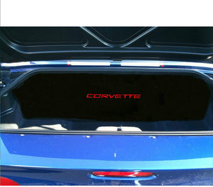 C5 Corvette Trunk Compartment Divider Partition with Red Corvette Script Embroidered Emblem Fits: 1998 Thru 2004 ZO6 FRC Convertible Corvettes