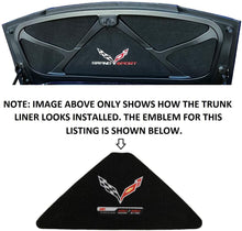 Load image into Gallery viewer, C7 Corvette Trunk Lid Liner Cross Flag + ZO6 Embroidered Emblems 5pc Kit 14 - 19