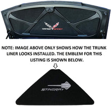 Load image into Gallery viewer, C7 Corvette Trunk Lid Liner w/ Stingray Emblem + Script Embroidered Emblem 14-19