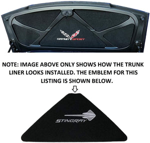 C7 Corvette Trunk Lid Liner w/ Stingray Emblem + Script Embroidered Emblem 14-19