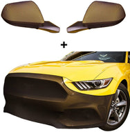 Mustang NoviStretch Front + Mirror Bra High Tech Stretch Mask Combo Fits: All 2015 and Later 6th Gen Mustangs (Except The Shelby)