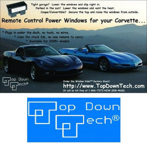 C7 Corvette Stingray Window Valet Operate your Windows with the Stock Remote FOB Fits: All 14 through 17 Corvettes Including the ZO6 and Grand Sport