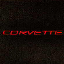 Load image into Gallery viewer, C5 Corvette Trunk Compartment Divider Partition with Red Corvette Script Embroidered Emblem Fits: 1998 Thru 2004 ZO6 FRC Convertible Corvettes