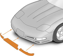 Load image into Gallery viewer, C5 Corvette Front Lower Spoiler Air Dam Complete 3 Piece Kit Fit: All 97 thru 04