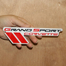 "Load image into Gallery viewer, C6 Corvette Grand Sport Metal Magnet Emblem Art Size: 7"" x 2"" 10 thru 13 GS"