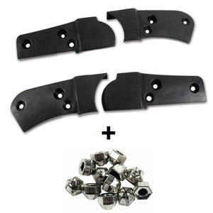 C3 Corvette Seat Hinge Cover Kit w/ Acorn Mount Hardware Fits: 78 Thru 82