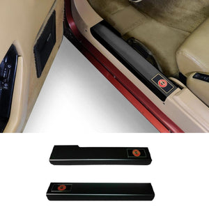 C4 Corvette Black Door Sill Guards Made by Altec Fits: 84 thru 87