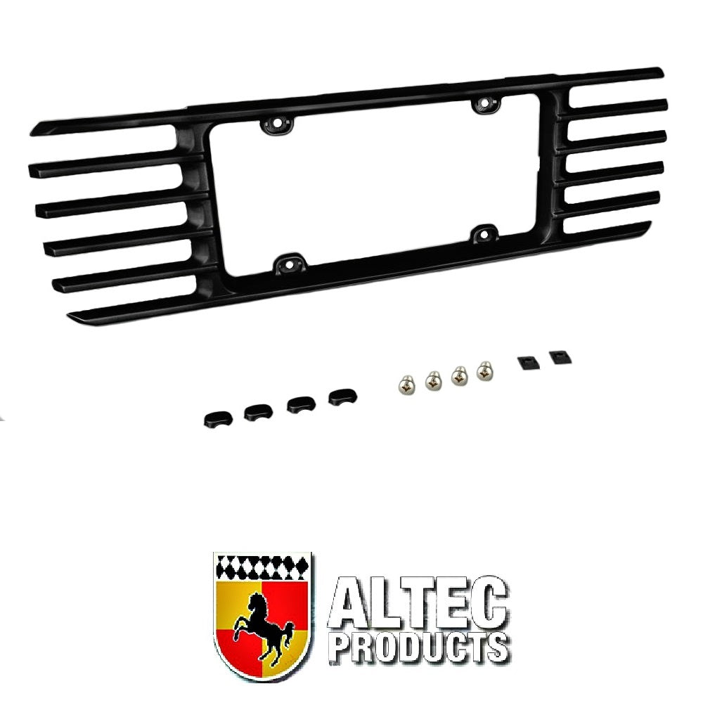 C5 Corvette Phantom Rear License Plate Frame in GM Correct Black Paint Made by Altec Fits: All C5 Corvettes 97 thru 04