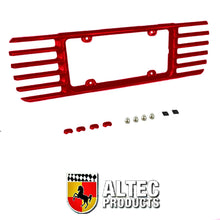 Load image into Gallery viewer, C5 Corvette Phantom Rear License Plate Frame in GM Correct Magnetic Red 97-04