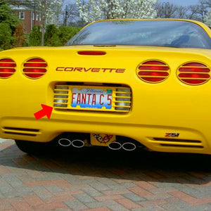 C5 Corvette Phantom Rear License Plate Frame in GM Correct Millennium Yellow
