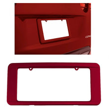 Load image into Gallery viewer, C6 Corvette Rear License Plate Frame GM Correct Crystal Red Paint 05-13