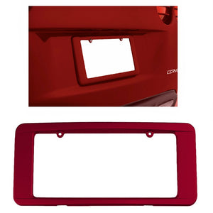 C6 Corvette Rear License Plate Frame GM Correct Crystal Red Paint 05-13