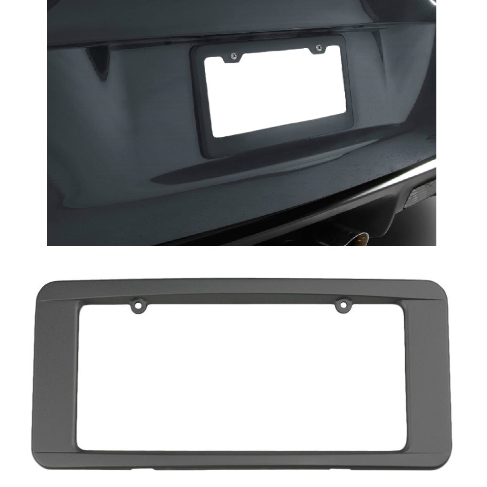 C6 Corvette Rear License Plate Frame in GM Correct Cyber Gray Paint Made by Altec Fits: All C6 Corvettes 05 Through 13