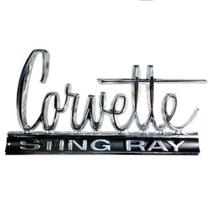 "C2 Corvette Wall Emblem Large Metal Art 66-67 Full 24"" x 13.5"" In Size"