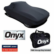 Load image into Gallery viewer, C2 Corvette HIGH END Onyx Black Satin Custom Stretch Indoor Car Cover 63-67