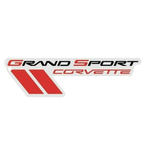 "C6 Corvette Grand Sport Metal Magnet Emblem Art Size: 7"" x 2"" 10 thru 13 GS"