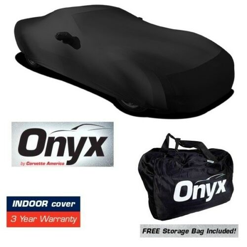 C5 Corvette HIGH END Onyx Black Satin Custom FIT Stretch Indoor CAR Cover 97-04