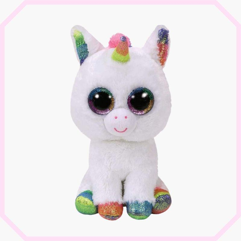 peluche licorne grands yeux