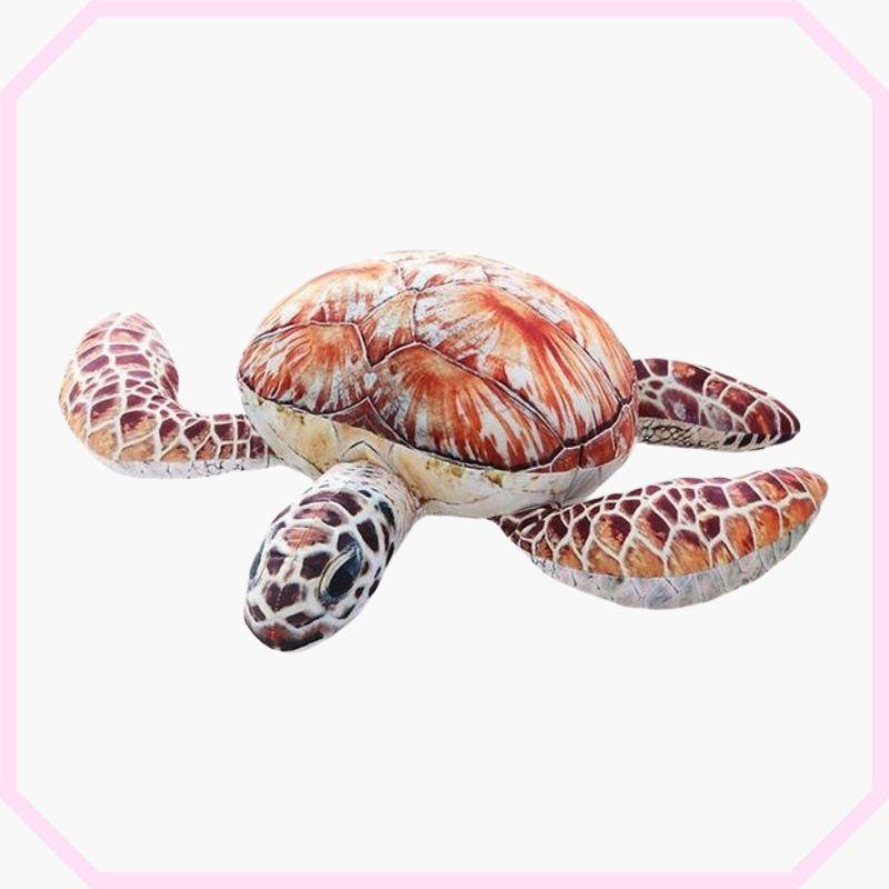 peluche tortue géante couleur orange