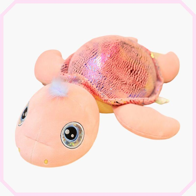 peluche tortue mia couleur rose