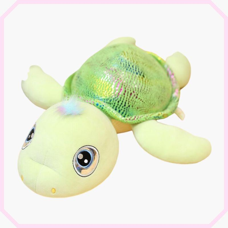peluche tortue tom couleur verte