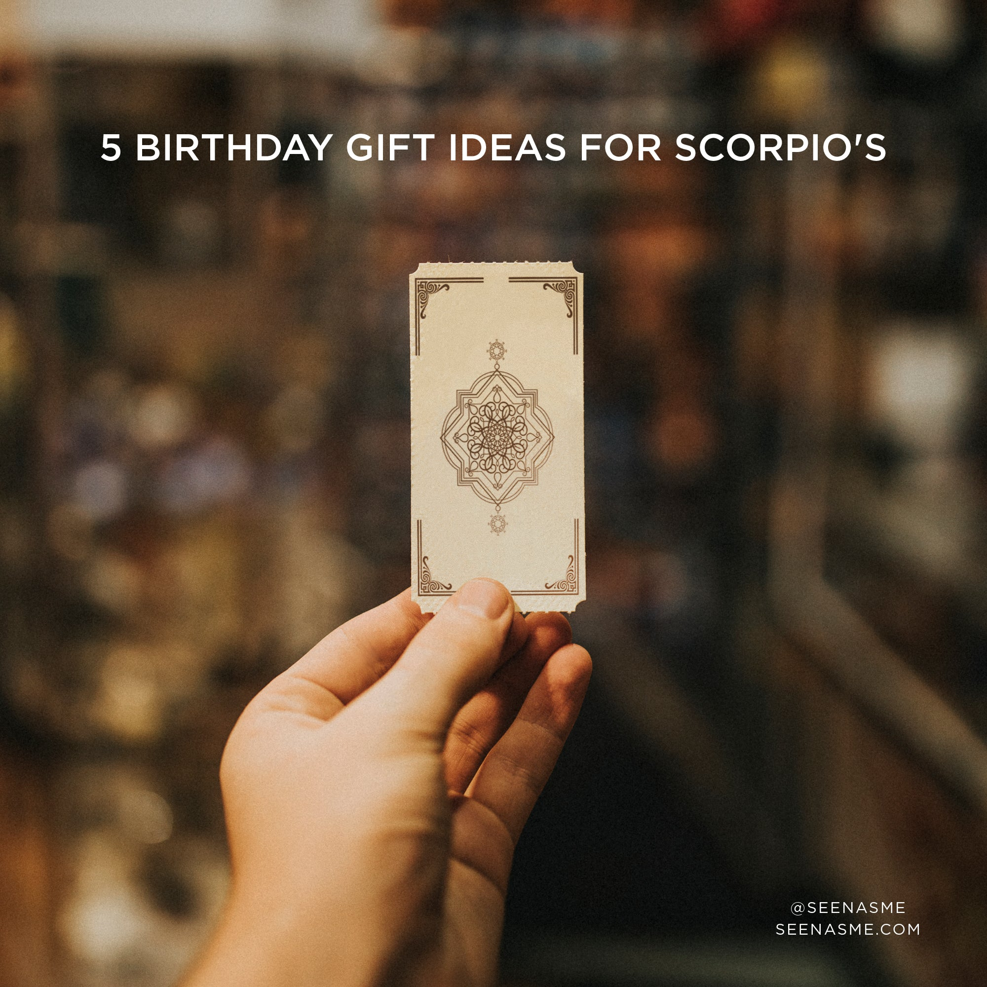 5 gift ideas for scorpio
