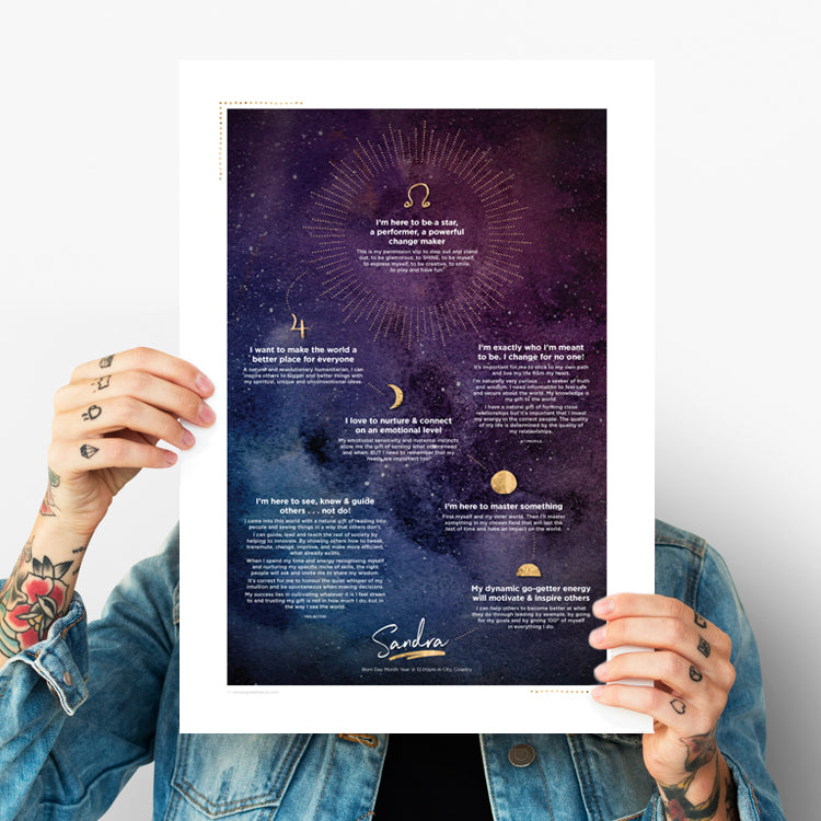 My Soul's Vision Poster ~ Night Sky Design