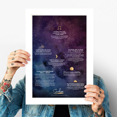 Soul Vision Poster ~ Night Sky Design