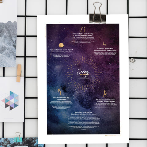 Soul Journey Poster ~ Night Sky Design