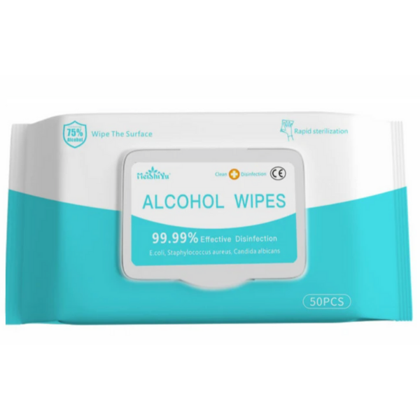 Disinfectant Wipes – 75% Alcohol (10 packs - 500 wipes!)