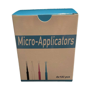 Micro Applicator Brush Tips - 4 Barrels (400 Pieces)