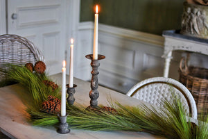 Old World Patina Candle Holder Set