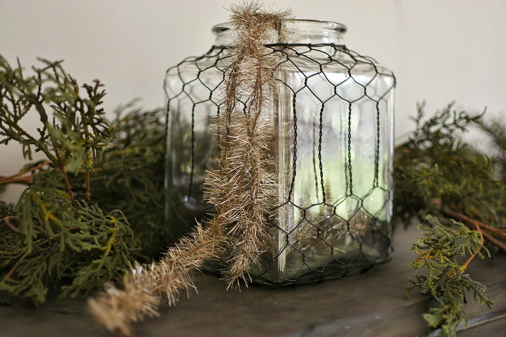 Vintage Tinsel Jar