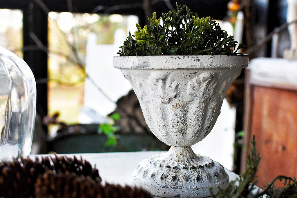 French Embossed Urn